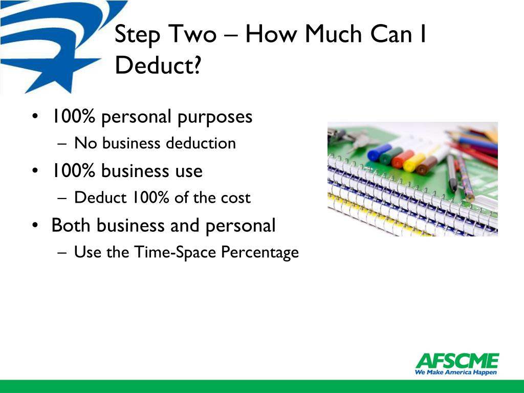 Step Two – How Much Can I Deduct?