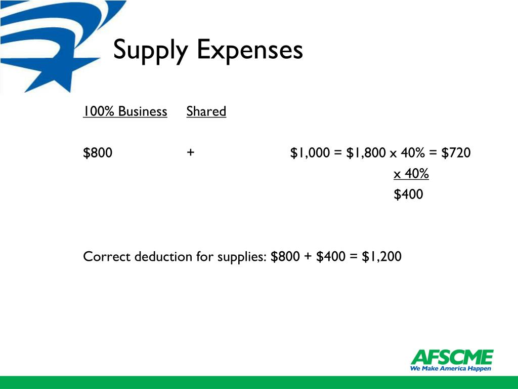 Supply Expenses