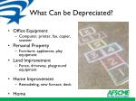 what can be depreciated