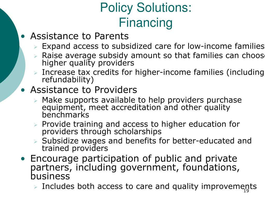 Policy Solutions: