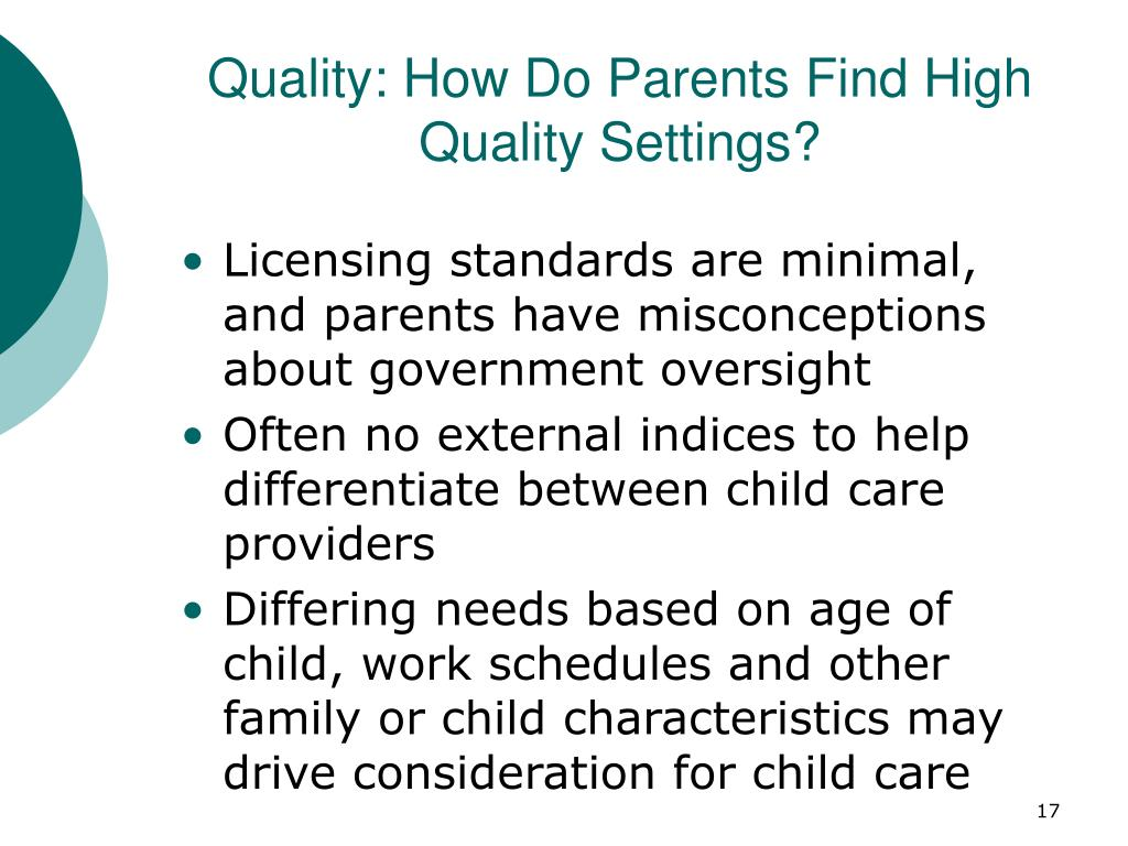 Quality: How Do Parents Find High Quality Settings?