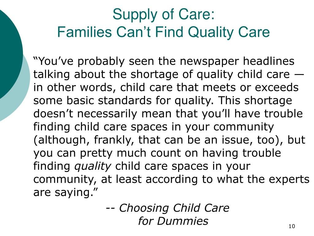 Supply of Care: