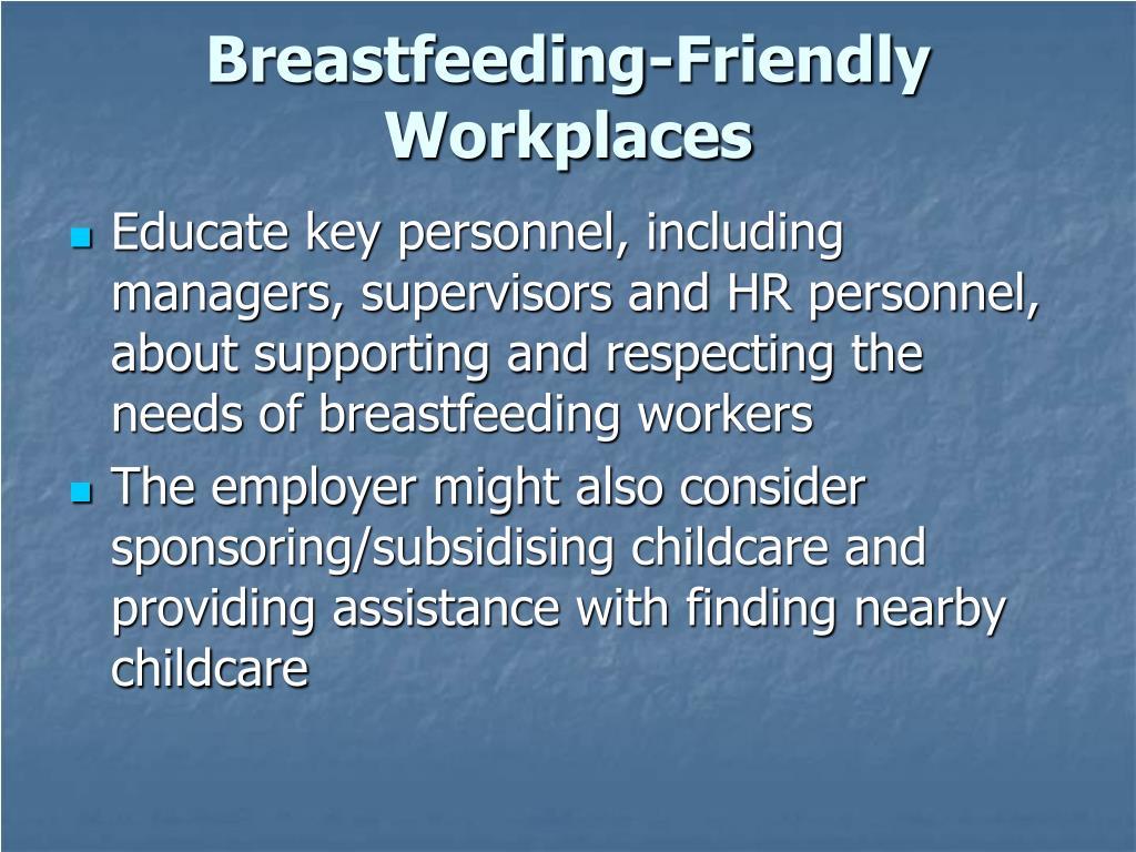 Breastfeeding-Friendly Workplaces