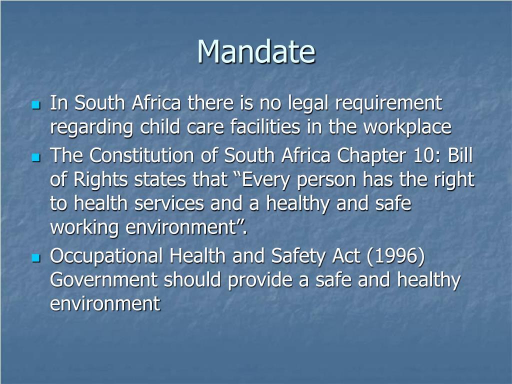 Mandate