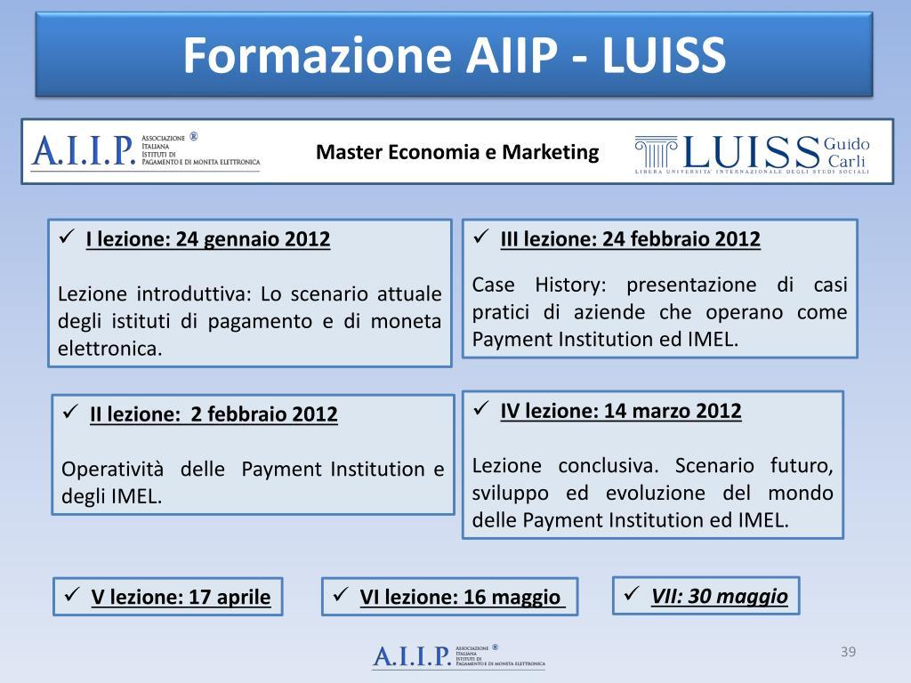 Formazione AIIP - LUISS