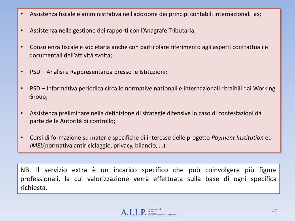 Assistenza fiscale e amministrativa nell'adozione dei principi contabili internazionali