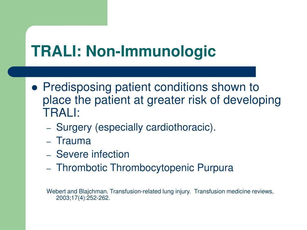 TRALI: Non-Immunologic