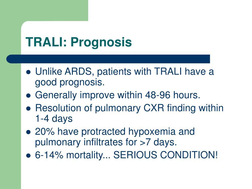 TRALI: Prognosis