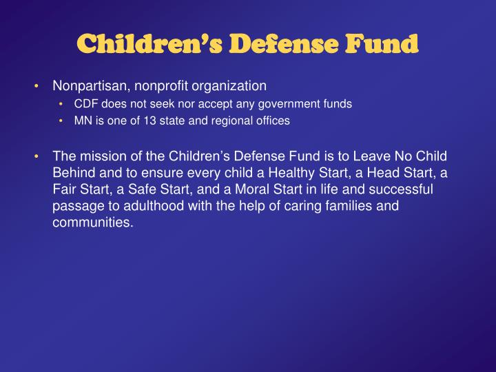 Children s defense fund