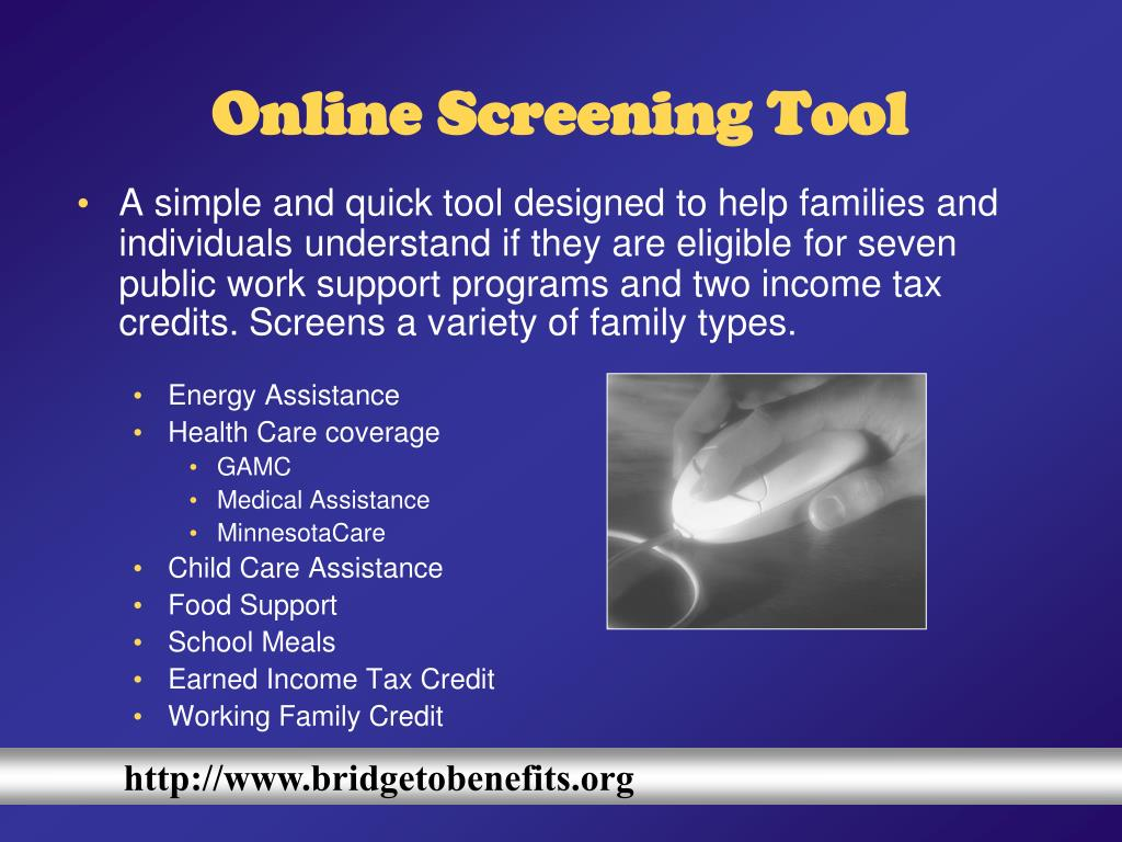 Online Screening Tool