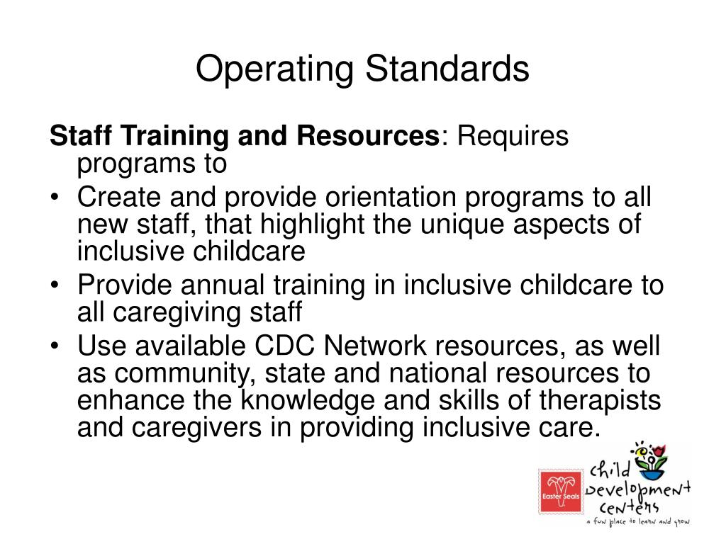 Operating Standards