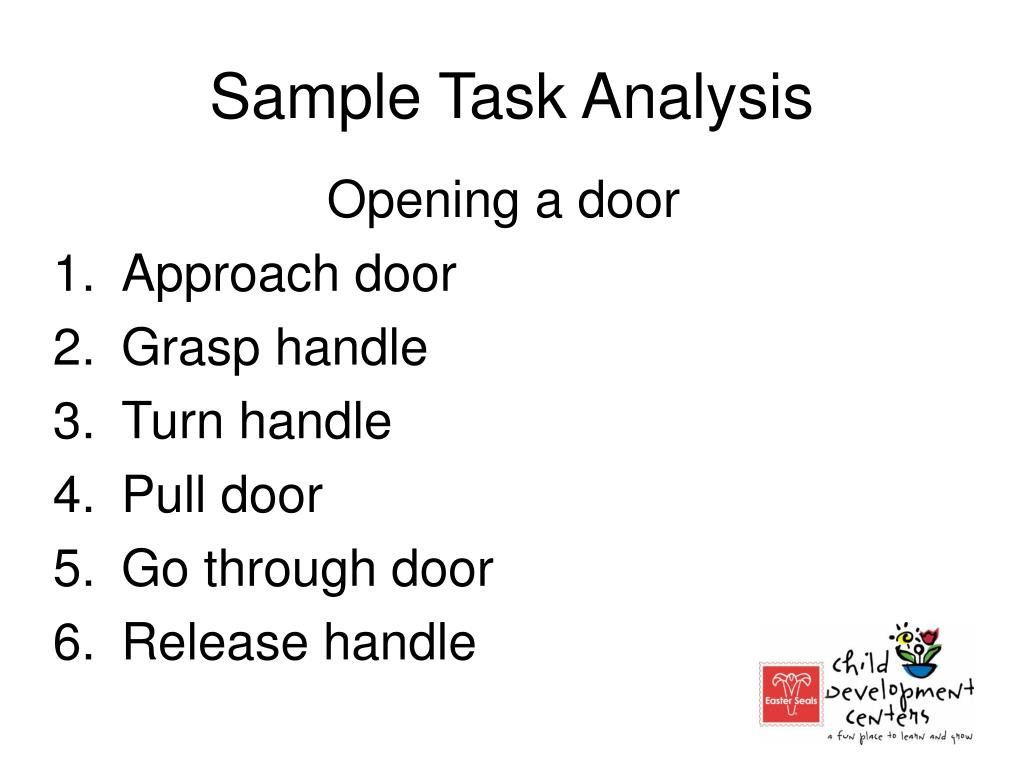 Sample Task Analysis