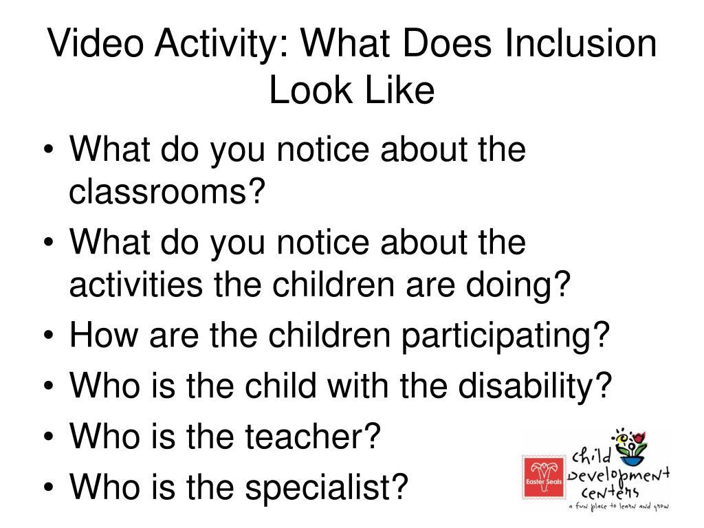 Video Activity: What Does Inclusion Look Like