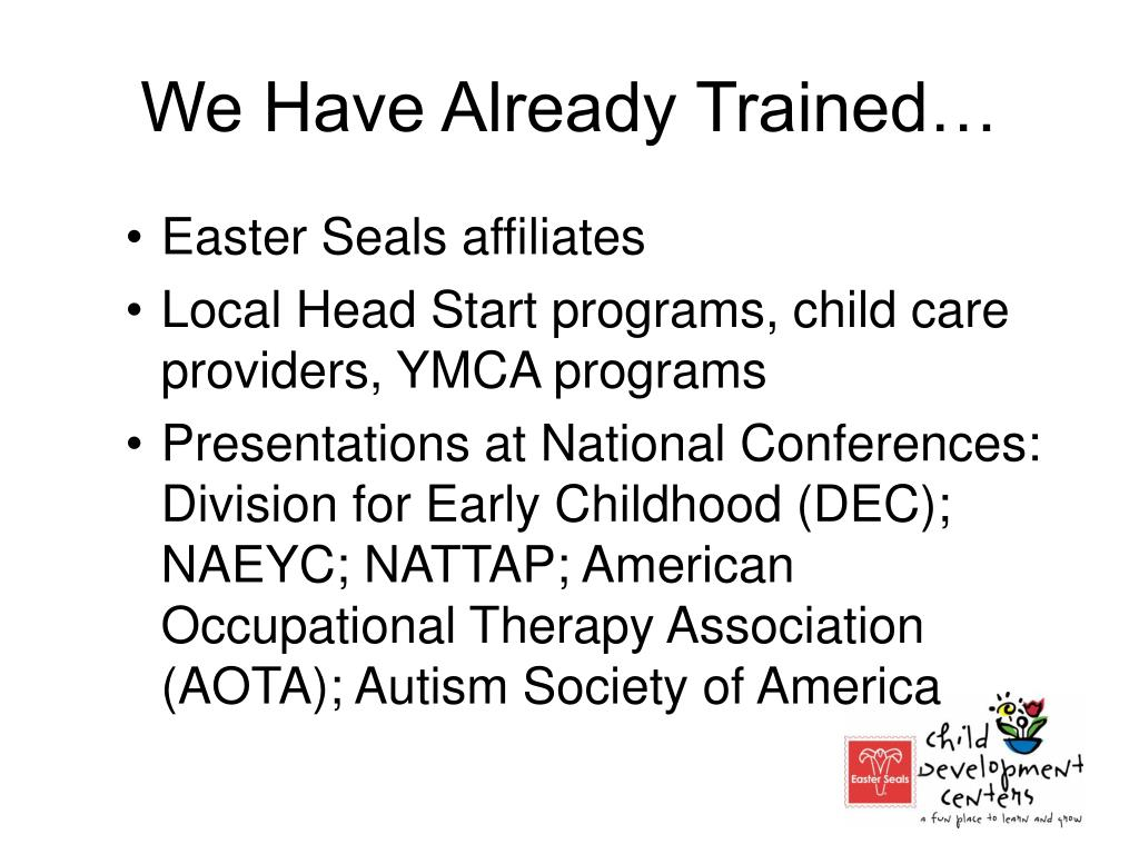 We Have Already Trained…