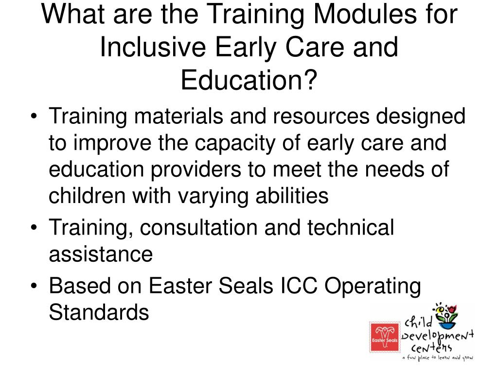 What are the Training Modules for Inclusive Early Care and Education?