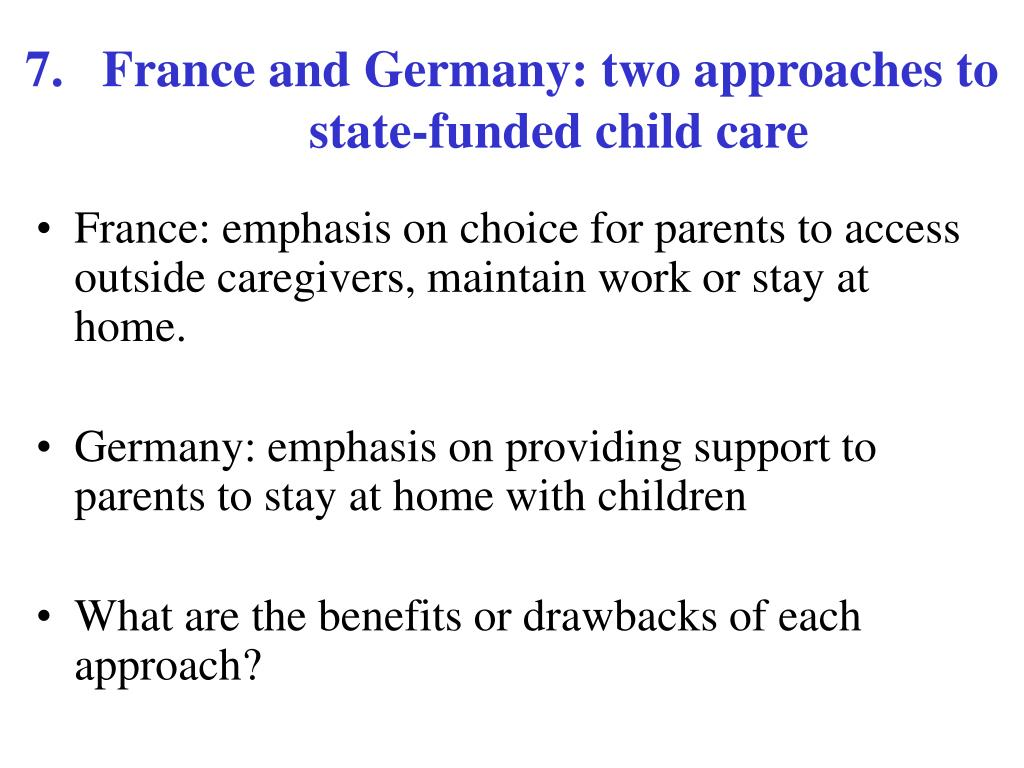 7.   France and Germany: two approaches to state-funded child care