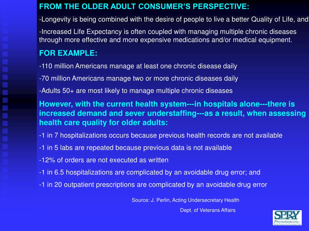 FROM THE OLDER ADULT CONSUMER'S PERSPECTIVE:
