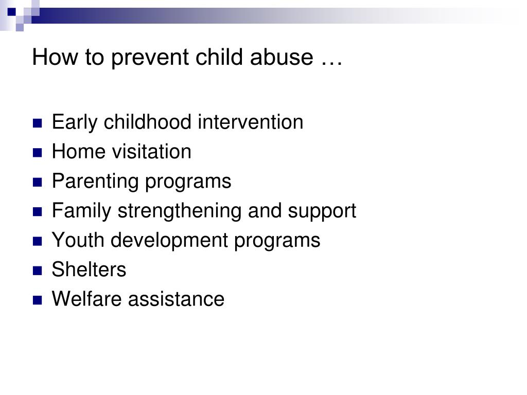 How to prevent child abuse …