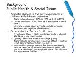 background public health social issue