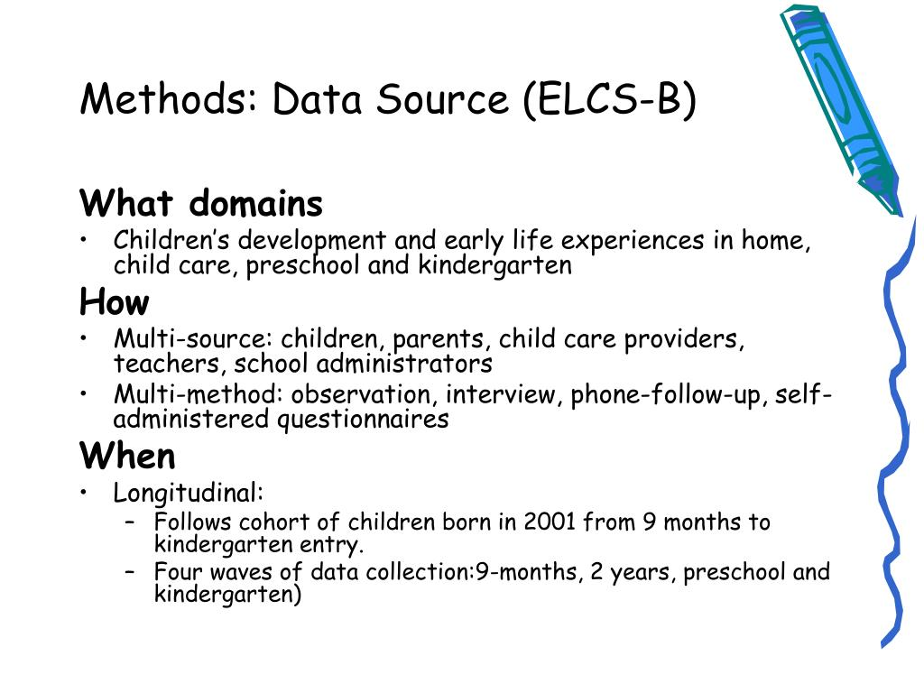 Methods: Data Source (ELCS-B)