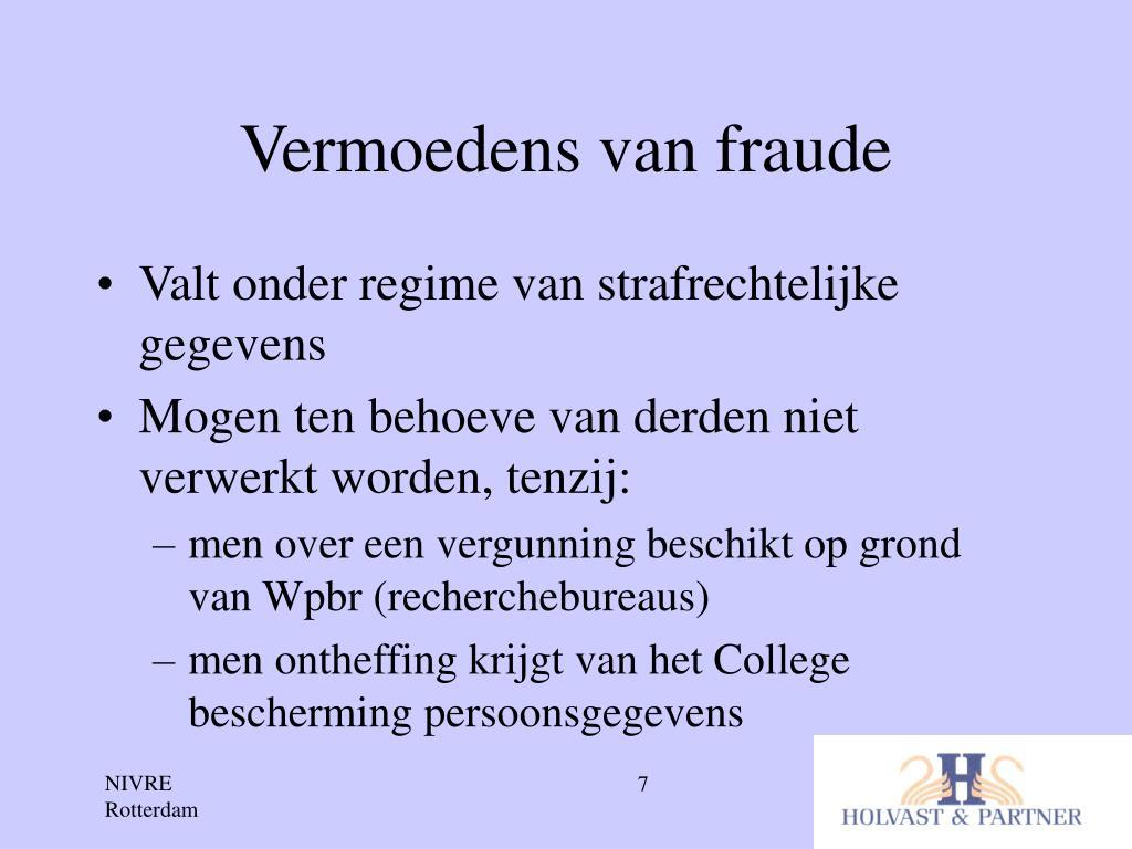 Vermoedens van fraude