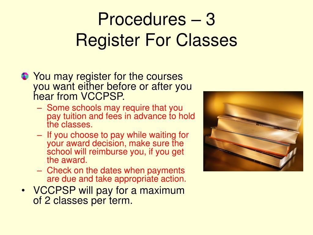 Procedures – 3