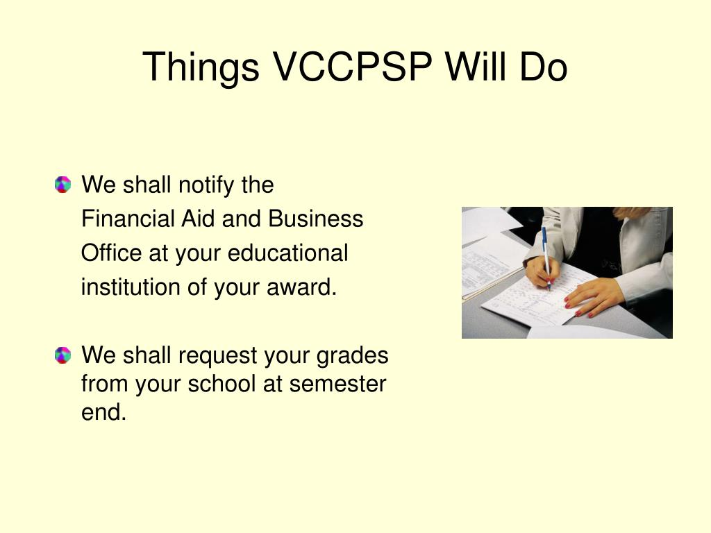 Things VCCPSP Will Do