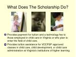 what does the scholarship do