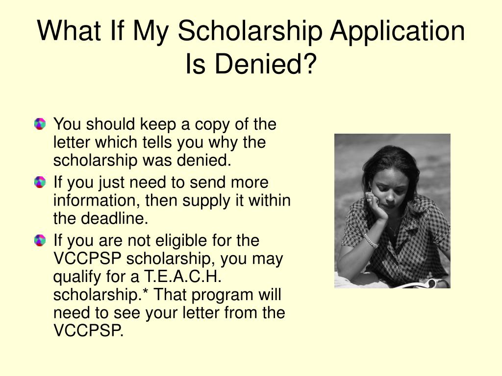 What If My Scholarship Application Is Denied?