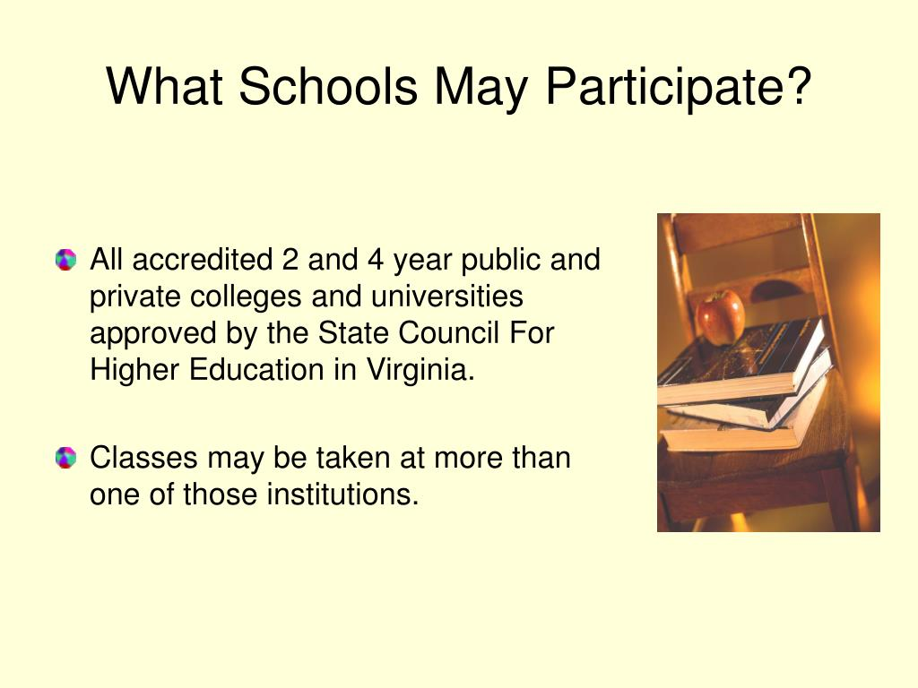 What Schools May Participate?