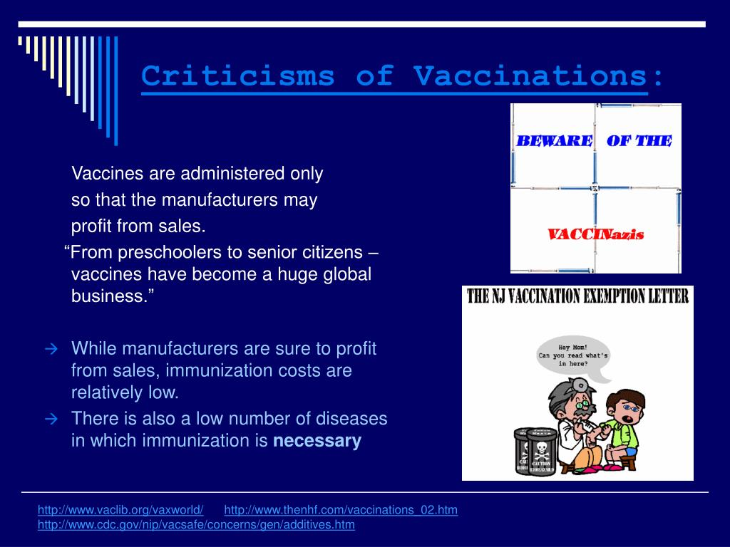 Criticisms of Vaccinations