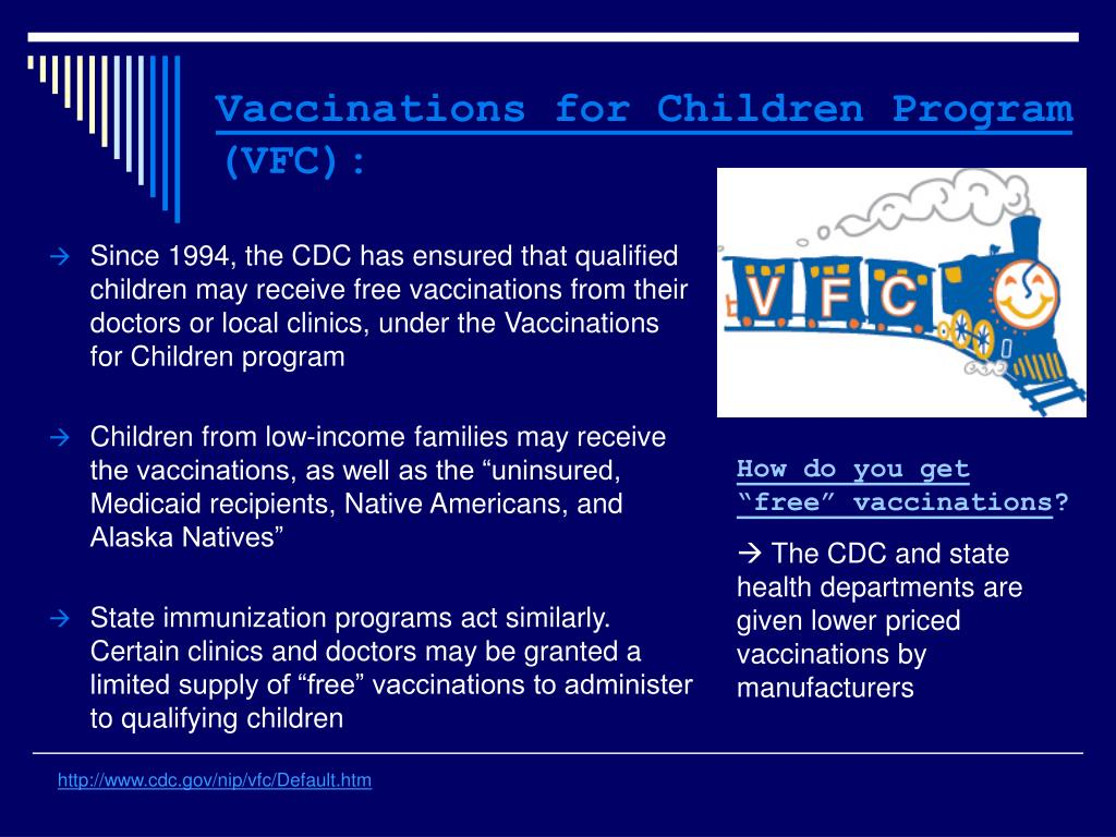 Vaccinations for Children Program