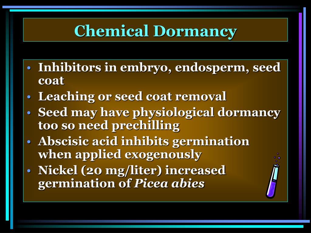 Chemical Dormancy