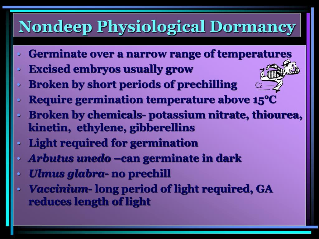 Nondeep Physiological Dormancy