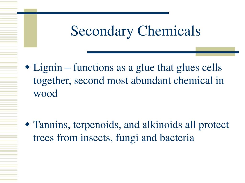 Secondary Chemicals