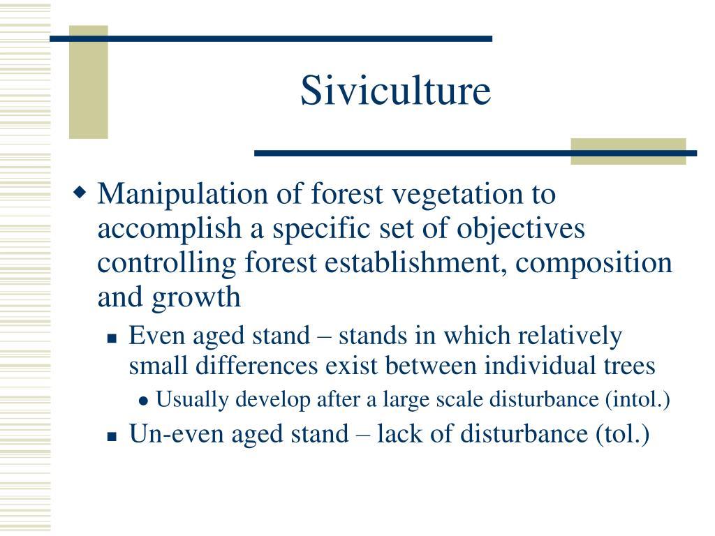 Siviculture