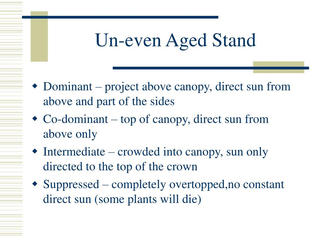Un-even Aged Stand