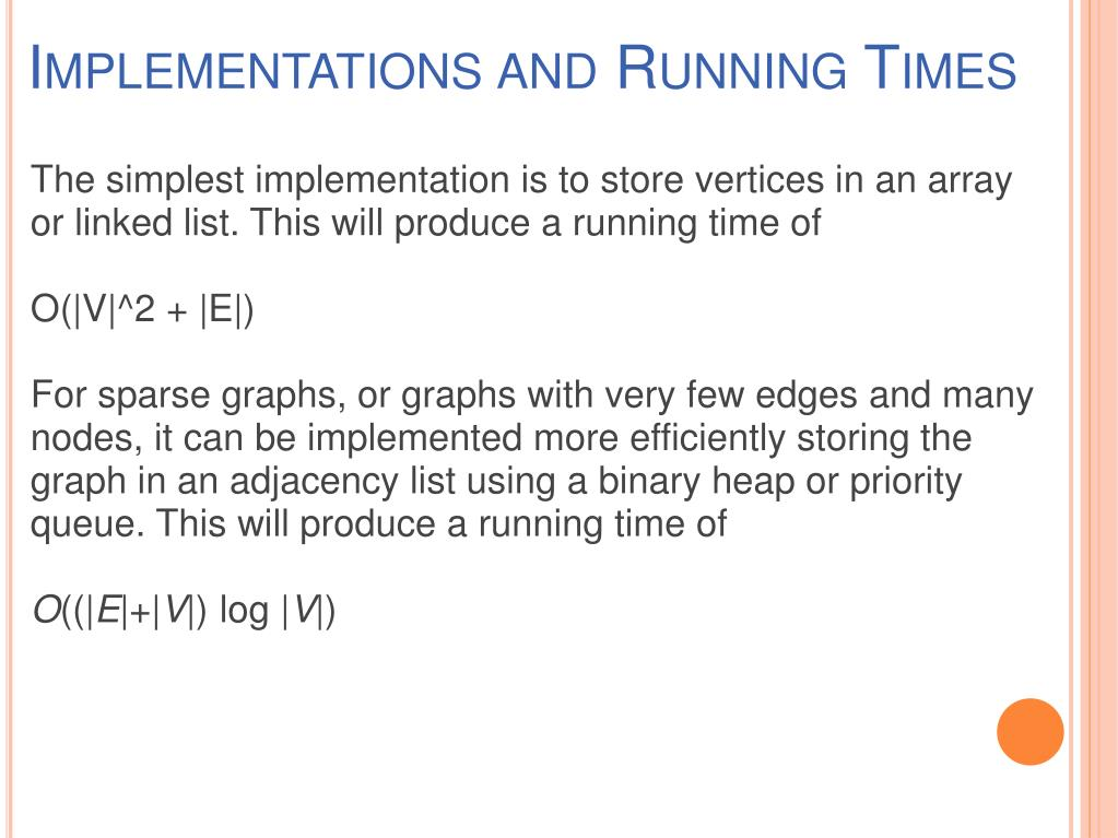 Implementations and Running Times