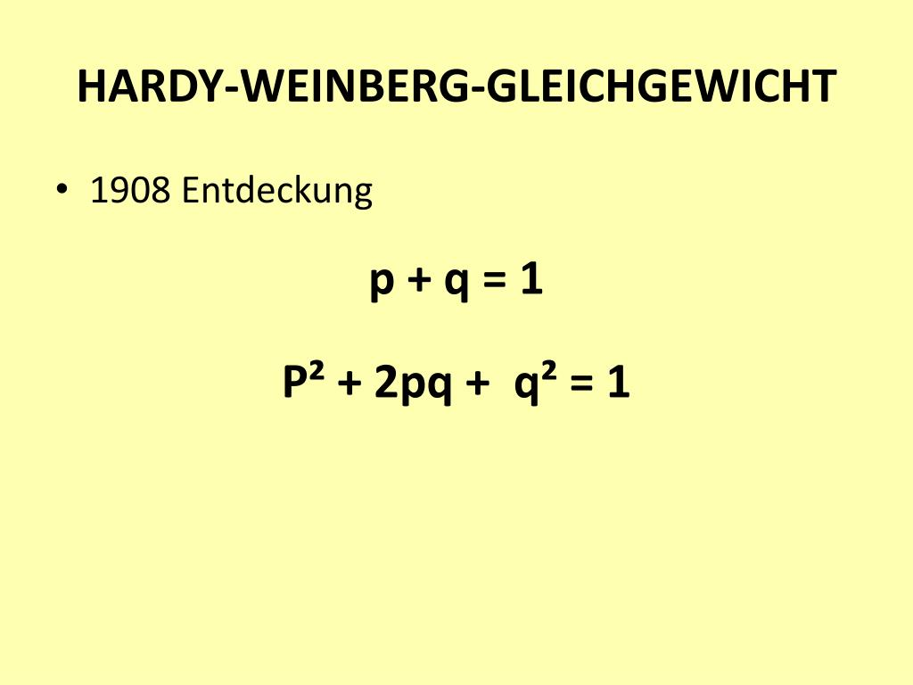 HARDY-WEINBERG-GLEICHGEWICHT