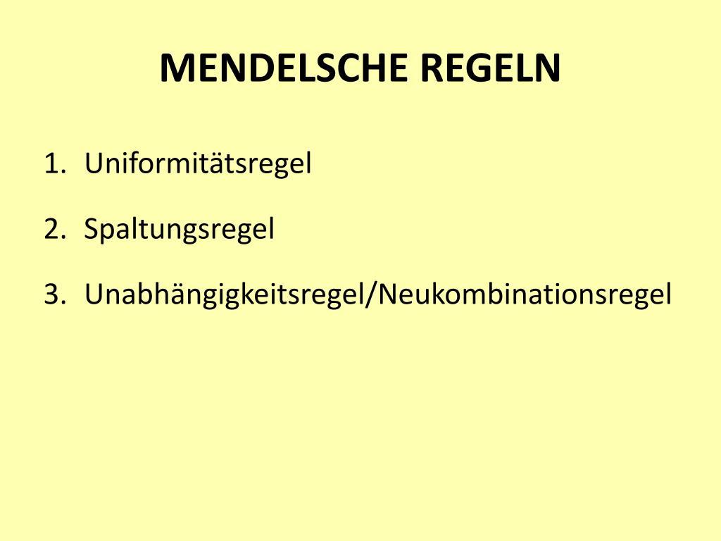 MENDELSCHE REGELN
