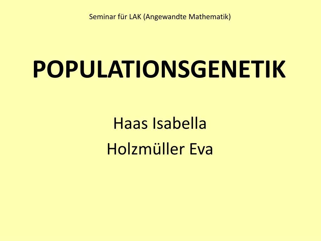 Seminar für LAK (Angewandte Mathematik)