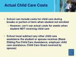 actual child care costs36