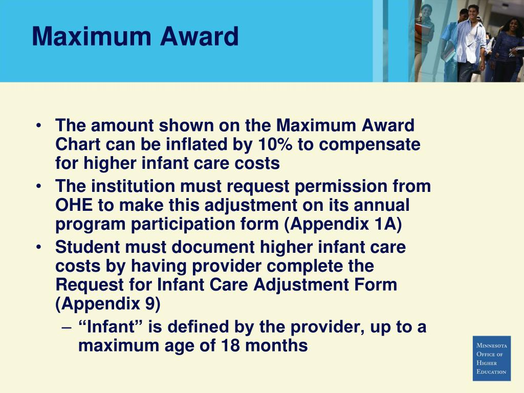 Maximum Award