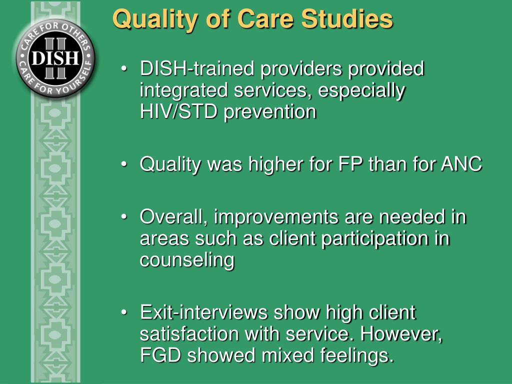 Quality of Care Studies