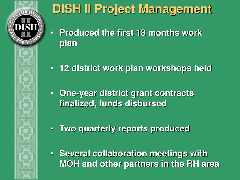 DISH II Project Management