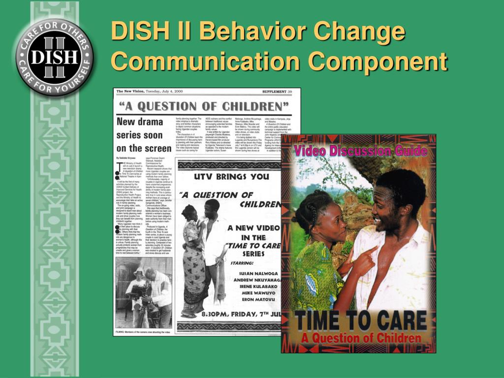 DISH II Behavior Change Communication Component