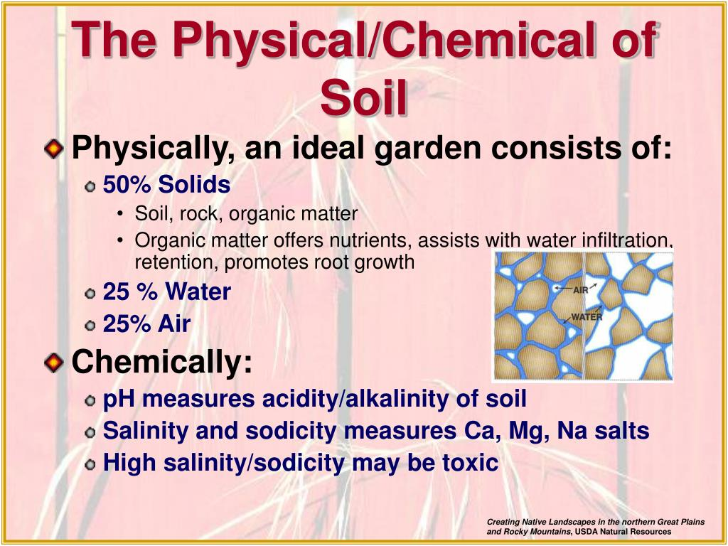 The Physical/Chemical of Soil