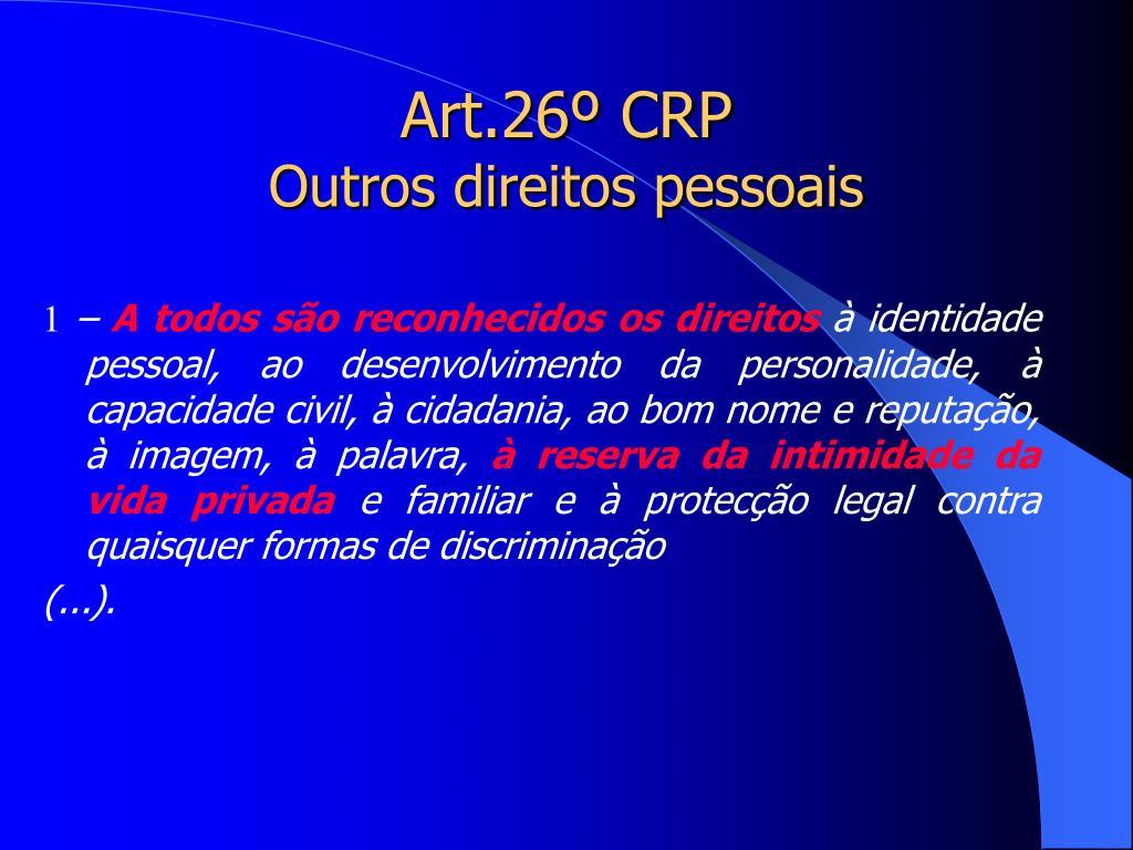 Art.26º CRP