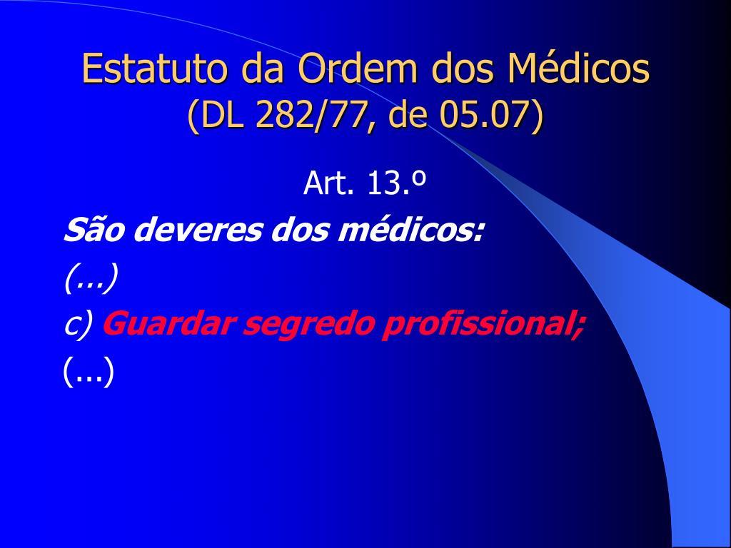 Estatuto da Ordem dos Médicos