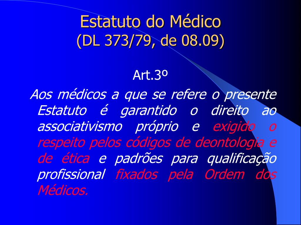Estatuto do Médico